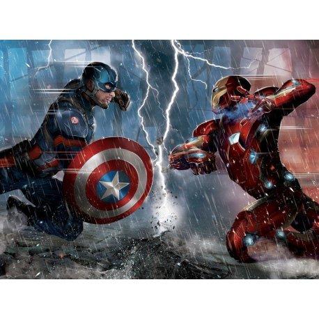 Iron Man contra el Capitán América Marvel