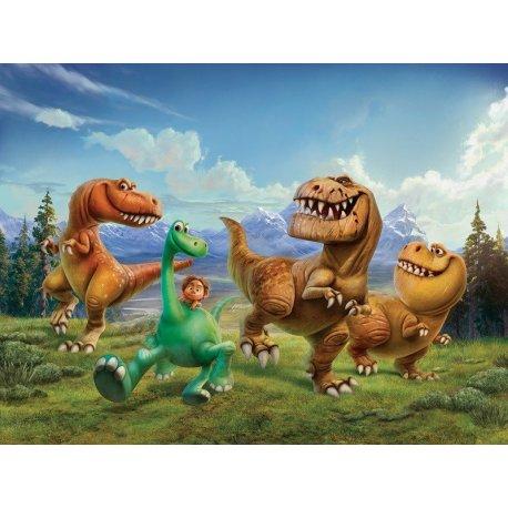 Aldo y el Buen Dinosaurio huyen de T-Rex
