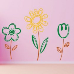 Flores Mágicas a Tres Colores