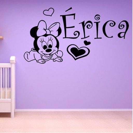 Vinilos Infantiles Disney.Vinilo Decorativo Infantil Bebe Minnie Mouse