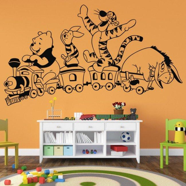 Vinilo Decorativo Tren En Winnie Pooh Infantil TFc3KJ1ul