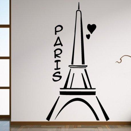 Vinilo decorativo dibujo de la torre eiffel - Dibujos de vinilo para paredes ...