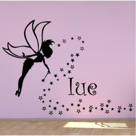 Vinilo decorativo infantil hada y estrellas Nombres para decorar paredes 22e59a57fe667