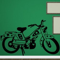 Motocicleta con Estrellas