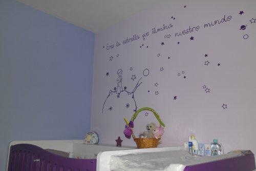 Vinilo decorativo infantil el principito ilumina nuestro mundo - Vinilo el principito ...