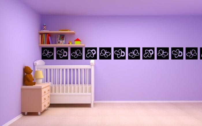 chupetes de beb y mariposas