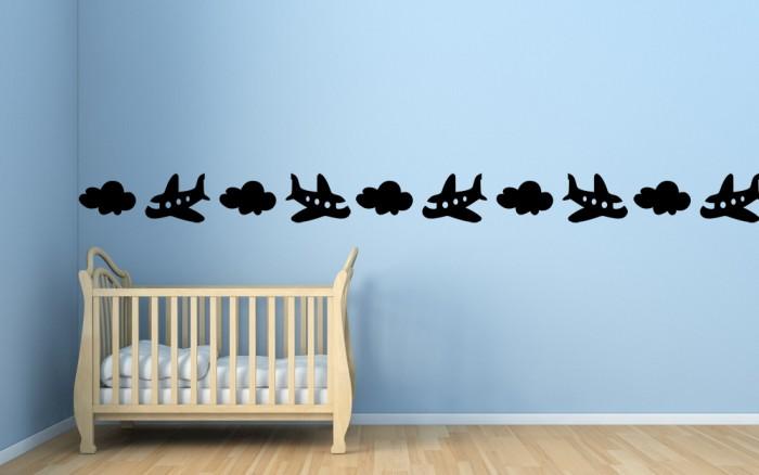 Cenefa para ni os aviones y nubes - Cenefa habitacion bebe ...