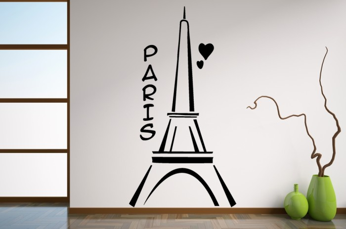 Vinilo decorativo dibujo de la torre eiffel for Dibujos faciles para paredes