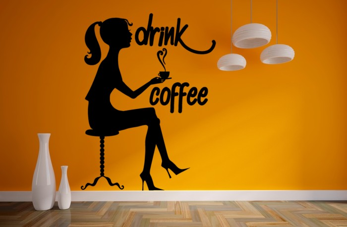 Girl Drink Coffee