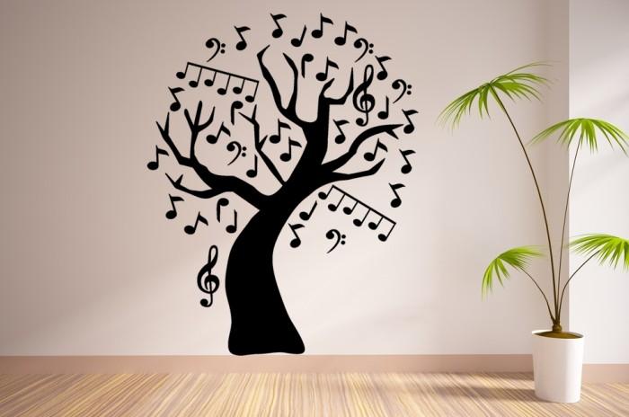 Vinilo Decorativo Rbol De Notas Musicales