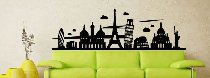 Vinilos ciudades decorativos for Vinilos pared ciudades