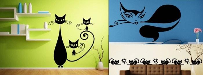 Vinilos de gatos decorativos - Vinilos decorativos gatos ...