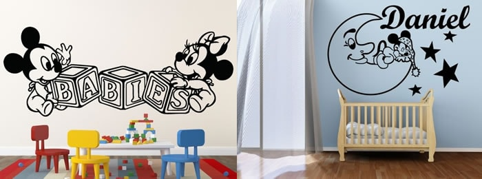 Vinilos Mickey Mouse personalizados y decorativos para tu pared